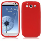 Galaxy S3 beskyttelses cover Rød