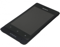 Sony ST27i Xperia Go Front Cover + LCD + Touchscreen - Sort til Sony