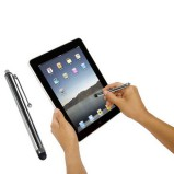 Luksus touch pen i stål til mobil og tablet - Touch pen