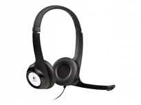 Logitech H390 headset m. kabel - Sort