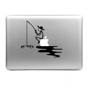 Skin sticker til MacBook (Fiskning)