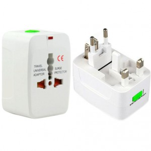Universal EU US UK AU travel adapter - Rejseadapter